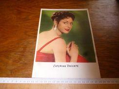 AA2-3  Grand Chromo Cartonné 17x24 Caterina Valente Voir Recto Verso - Pubblicitari