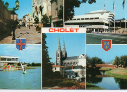 Cholet.. Belle Multi-vues Hôtel De Ville Le Lac Du Ribou L'Eglise Notre-Dame Le Parc De La Moine - Cholet