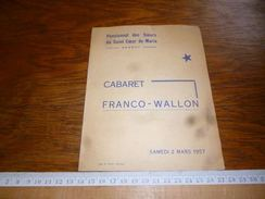 CB2  Wallon Cabaret Franco-Wallon Hannut 1957 - Zonder Classificatie