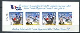 201 FRANCE 1967 - Vignette Gl De GAULLE A Toulouse Concorde - Feuille De 4 Non Dentele - Neuf ** (MNH) Sans Charniere