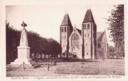 ALTE AK  ECOUIS / Dep. Eure  - L`Eglise..... - Ca. 1920 - Frankreich