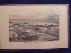 MAROC - ** CASABLANCA - L'Hôpital Militaire ** Carte En Franchise Av. Cachet Du Médecin Chef De L'Hôpital De Campagne... - Casablanca