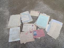 Lot De 180 Correspondance D'un Prisonnier De Guerre STALAG Polten Autriche + Carte Reichbahn - 1939-45