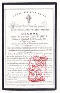 Image Pieuse DP Marie Anne Th. DeCool ° 1788 † Bailleul FR Nord 1865 X Louis Flahault - Santini