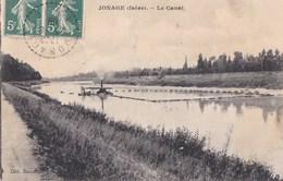 38 JONAGE  Vue Sur Le CANAL Chemin De Halage Timbre 1909 - Zonder Classificatie