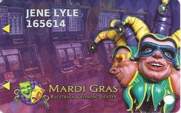 Mardi Gras Casino - Hallandale Beach, FL USA - Slot Card - Logo Over Mag Stripe On Back - Casino Cards