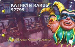 Mardi Gras Casino - Hallandale Beach, FL USA - Slot Card - Logo Under Mag Stripe On Back - Casino Cards