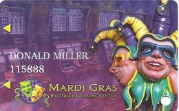 Mardi Gras Racetrack & Gaming Center - Cross Lanes, WV USA - Slot Card - Casino Cards