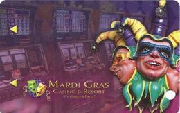 Mardi Gras Casino & Resort - Cross Lanes, WV USA - BLANK Slot Card - Casino Cards