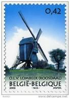 O.L.V.-LOMBEEK Bij Roosdaal (Brabant) - Molen/moulin - Filatelie Prentkaart Van De Hertboom Windmolen (2002) - Roosdaal