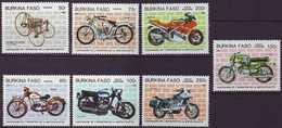F-EX3384 BURKINA FASO COMPLETE SET MNH 1985 MOTORCICLE - Burkina Faso (1984-...)