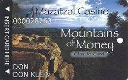 Mazatzal Casino - Payson, AZ USA - Mountains Of Money Classic Card - Slot Card - Casino Cards