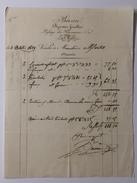 BASIN ( Bijoutier - Joaillier ) - PARIS Facture à Théodore August MARTELL (Cognacs MARTELL) Le 2 Octobre 1839 - Frankrijk