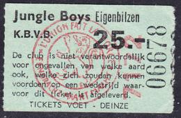 TICKET - VOETBAL - FOOTBALL - JUNGLE BOYS  EIGENBILZEN -  Stamnr. 7172 - Tickets D'entrée