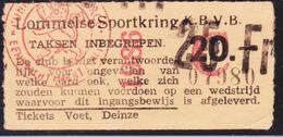 TICKET - VOETBAL - FOOTBALL - LOMMELSE SPORTKRING - KBVB -  Stamnr. 1986 - Tickets D'entrée