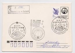 SPACE Cover Mail Used USSR RUSSIA Rocket Sputnik Germany Soyuz TM-14 Baikonur Baikonour