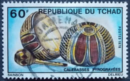 TCHAD. Y&T 320 (o) BELLE OBLITERATION ADJAMENA . CALBASSES PYROGRAVEES 60F - Chad (1960-...)