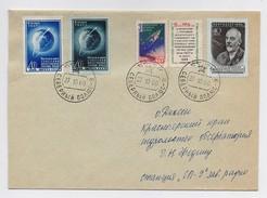MAIL Post Cover Used USSR RUSSIA Set Stamp Space Rocket Sputnik Tsiolkovsky