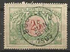 Belgique - Chemin De Fer - TR31  Obl. BOURLERS - 1895-1913