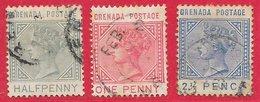 Grenade N°13 à 15 1883 (filigrane CA, Dentelé 14) O - Grenada (...-1974)
