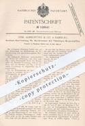 Original Patent - Gebr. Albrechtsen & Co. , Hamburg , 1899 , Heizbrenner Anzünden | Brenner , Gas , Gasbrenner !! - Historische Dokumente