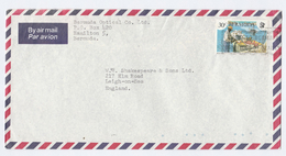 Air Mail BERMUDA COVER Stamps FISH FISHING To GB - Bermudes