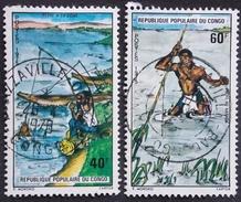CONGO Y&T 384-385 OBLITERATION BRAZZAVILLE - Congo - Brazzaville