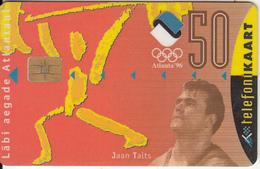 ESTONIA - Jaan Talts/Atlante 96 Olympics, 03/96, Used - Estonia
