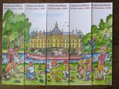 Lot De 5 Marque Page Puzzle Vaux Le Penil 2006 Illustrateur Claude Buret  - Ed Amatteis Tbe - Marque-Pages