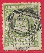 Guyane Britannique N°31 24c Vert (dentelé 10) 1863-75 O - Guyane Britannique (...-1966)