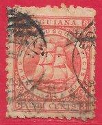 Guyane Britannique N°32 48c Rouge-carmin (dentelé 10) 1863-75 O - Guyane Britannique (...-1966)