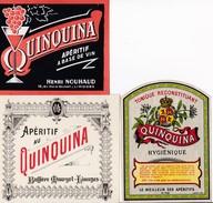 Lot De 6 Superbes étiquettes Anciennes Apéritif Au QUINQUINA - Etiquettes