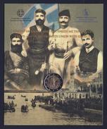 """2013 GRECIA """"100 ANN. UNIONE CRETA ALLA GRECIA"""" 2 EURO COMMEMORATIVO FDC (COINCARD) - Grecia"""