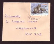 Australia Cover - Usage Flocking Stamp (feels Like Velvet) (only 250 Folders Issued) - Snow Leopard - Unusual