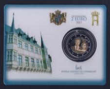 """2015 LUSSEMBURGO """"GRANDUCA HENRI"""" 2 EURO COMMEMORATIVO FDC (COINCARD) - Lussemburgo"""
