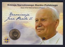 """2014 POLONIA """"CANONIZZAZIONE GIOVANNI PAOLO II"""" 2 ZLOTY FDC (COINCARD) - Pologne"""