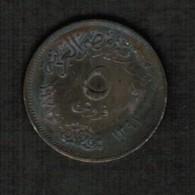 EGYPT   5 MILLIEMES 1972 (AH 1392) (KM #A425) - Egypt
