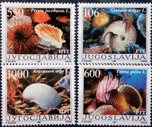 Yugoslavia, 1988, Coneshells, Fishes, Marine Life, MNH