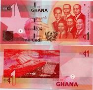 GHANA       1 Cedi       P-37f       1.7.2015       UNC - Ghana