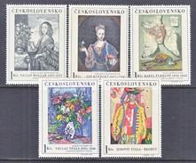 CZECHOSLOVAKIA  1435-9  *    ART  PAINTINGS - Czechoslovakia