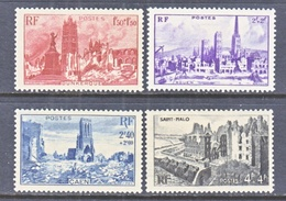FRANCE  B 197-200    *   WAR  RUINS - Unused Stamps
