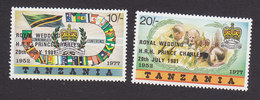 Tanzania, Scott #179-180, Mint Hinged, Royal Wedding, Issued 1981 - Tanzania (1964-...)