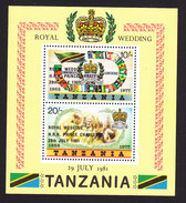 Tanzania, Scott #180a, Mint Never Hinged, Royal Wedding, Issued 1981 - Tanzania (1964-...)