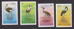 Tanzania, Scott #193-196, Mint Hinged, Birds, Issued 1982 - Tanzanie (1964-...)