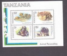 Tanzania, Scott #204a, Mint Never Hinged, Animals, Issued 1982 - Tanzania (1964-...)