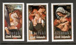 AITUTAKI Cook Islands 1972 Christmas, Scott Nos. 48-50, MNH