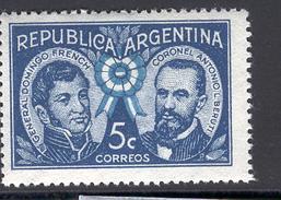 ARGENTINA 1941 General French And Colonel Beruti, Scott No. 475, MH - Argentina