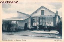 BELLE CPA : TRAPPES LA RUE DU CENTRE CAFE JOYEUX BIERE DES MOULINEAUX 78 YVELINES - Trappes