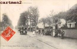 LE VESINET ROUTE DE MONTESSON ANIMEE HOTEL RESTAURANT PRADIE AUTOMOBILE 78 YVELINES - Le Vésinet