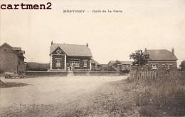 RARE CPA : MONTIGNY LE CAFE DE LA GARE MONTIGNY-LE-BRETONNEUX 78 YVELINES - Montigny Le Bretonneux